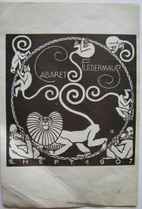 Koloman Moser (1868-1918) Cabaret Fledermaus Affenkarussell 1907 Lithografie