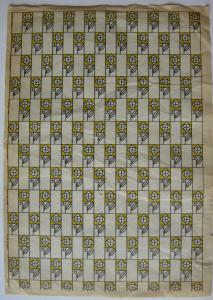 Wiener Werkstätte Rosensignet Einschlagpapier Kolomann Moser 1905 Klischeedruck