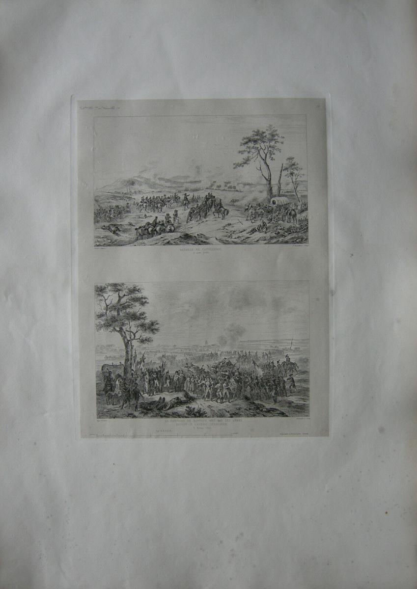 Castiglione Mantua Napoleon Italienischer Feldzug Stahlstich 1837 Italia 0