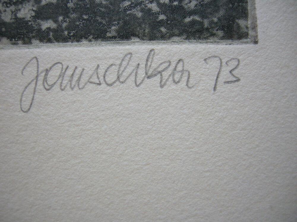 Fritz Janschka (1919) Buchstabe W Orig Radierung 1973 signiert datiert 18/60 1