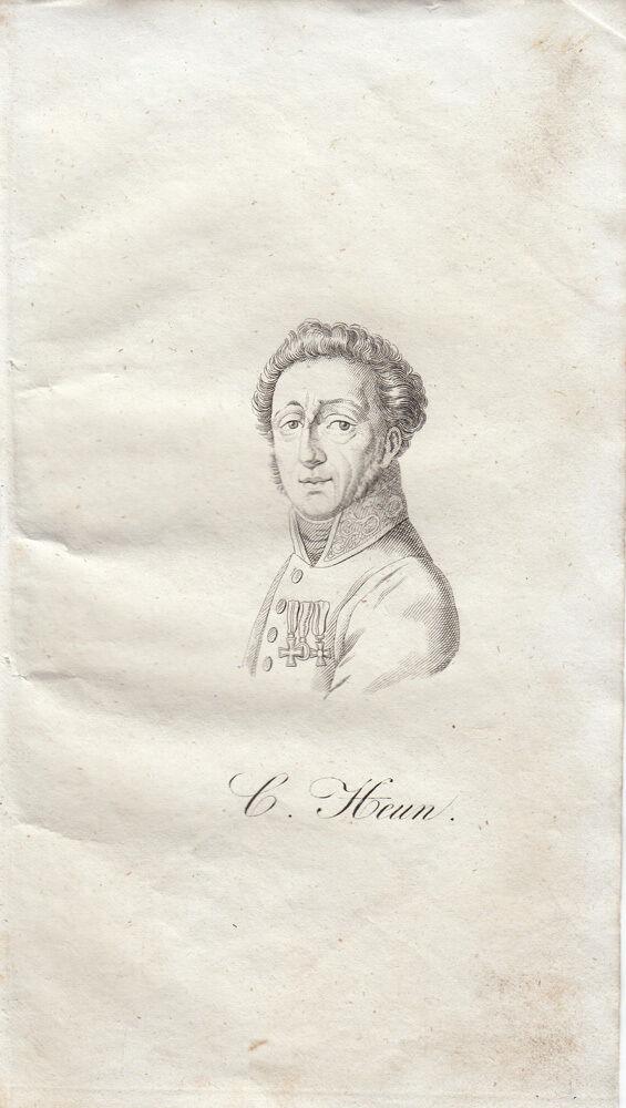 Carl Heun Heinr Clauren (1771-1854) Deutscher Schriftsteller Orig Radierung 1840 0