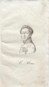 Carl Heun Heinr Clauren (1771-1854) Deutscher Schriftsteller Orig Radierung 1840