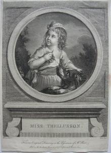 Naette Thellusson als Kind Orig Kupferstich Picot nach Falconet 1773