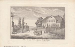 Ulrich's Sehlen's Garten bei Göttingen Stummbuchkupfer E. L. Riepenhausen 1820