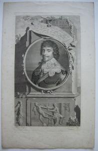Friedrich V. (1596-1632) Kurfürst König von Böhmen Orig Kupferstich 1700