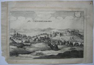 Katzenelnbogen Rheinland-Pfalz Rhein-Lahn-Kreis Orig. Kupfersicht Merian 1655