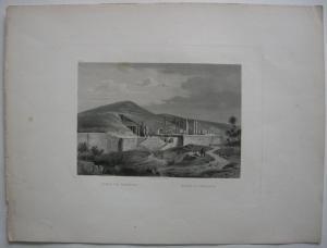 Ruinen von Persepolis Iran Fars Persien Orig Stahlstich Rüdisühli 1850