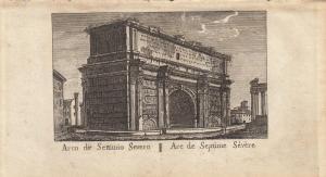 Arco di Settimio Severo Roma Italia Orig Kupferstich Vasi 1816
