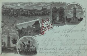AK Eisfeld a. d. W. Thüringen Hildburghausen Mondscheinkarte Litho gelaufen 1899