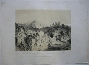 Ober-Inntal Tirol Getönte Orig Lithographie Heinlein 1842 Österreich Alpen