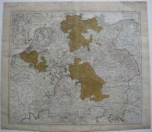 Heiliges Römisch-Deutsches Reich altkolor Kupferstichkarte Homann 1720
