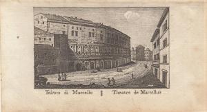 Teatro di Marcello Roma Italia Orig Kupferstich Vasi 1816