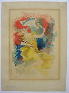 Jules Cheret (1836-1932) Courrier Francais Lithografie Maitres de l'affiche 1895