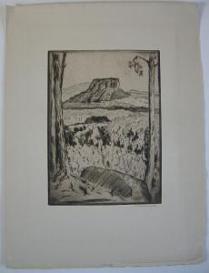 Berthold Hellingrath Sächsische Schweiz II Orig Radierung 1930 signiert
