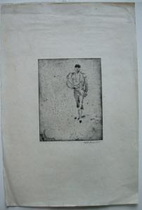 Willi Geiger (1878-1971) Einmarsch Torero Corrida Orig Radierung 1912 signiert