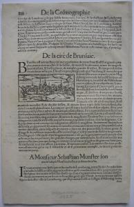 Braunschweig Miniaturansicht Holzschnitt aus Seb Münster Cosmographie 1588