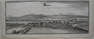 Aerzen Hameln-Pyrmont Nordrhein Westfalen Orig Kupferstich M. Merian 1650