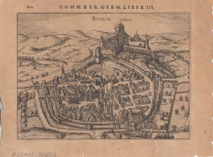 Rouffach Haut-Rhin Alsace France Orig. Kupferstich Peter Bertius 1616