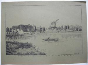 Lettland Partie aus Kurland Baltikum Orig Lithographie 1917
