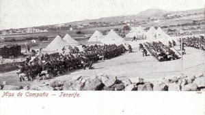 Postal Tenerife Misa de Campaña Canarias España postally unused 1920