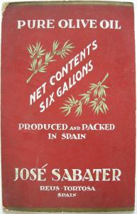 Olivenöl Aceite Jose Sabeter Tortosa Entwurf Orig Gouache um 1900 Reklame