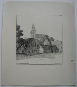Lettland Schönberg Skaistkalne Kurland Baltikum Orig Lithographie 1917