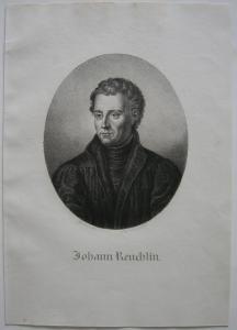 Johann Reuchlin (1455–1522) Philosoph Humanist Orig Lithografie Lanzedelly 1825