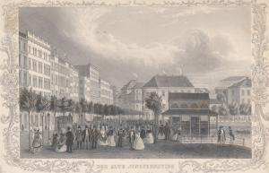 Hamburg Der Alte Jungfernstieg Orig. Stahlstich J. Gray bei Berendsohn 1840