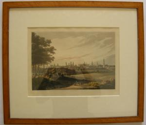 Berlin Gesamtansicht kolor Orig Aquatinta R. Bowyer 1814 gerahmt