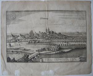 Moosburg Isar Freising Oberbayern Orig Kupferstich Matthaeus Merian 1650