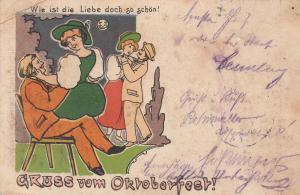 Ak München Oktoberfest Liebespaare gel 1910