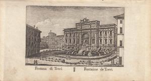 Fontan di Trevi Roma Italia Orig Kupferstich Vasi 1816