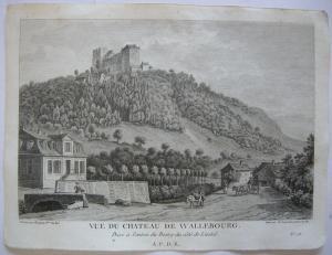 Waldenburg Schweiz Basel-Landschaft Ansicht Orig Kupferstich 1780 Liestal