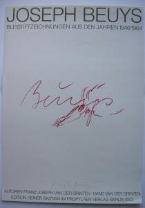 Joseph Beuys Bleistiftzeichnungen Propyläen Orig Plakat 1973 von Beuys signiert
