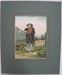 Bäuerliche Tracht Hohenaschau Chiemgau Orig Lithografie 1903 Chiemsee