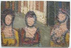 Jean Besnard (? - 1980) Drei Frauen Öl auf Platte um 1960 nicht signiert