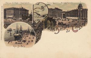 Ak Trieste Triest Palazzo del Lloyd Pal Munizipale Friaul Italia ungel 1900