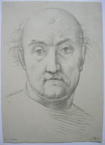 Ferdinand Piloty (1786-1844) Fra Bartholomeo  Orig. Lithografie um 1820