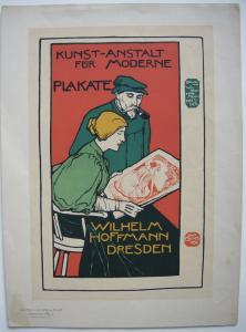Otto Fischer Plakate W. Hoffmann Dresden Lithografie Maitres de l'affiche 1896