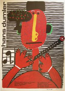 Hans Dumler (1922) Hommage a Günther Franke Ausstellungsplakat 1988 Offset