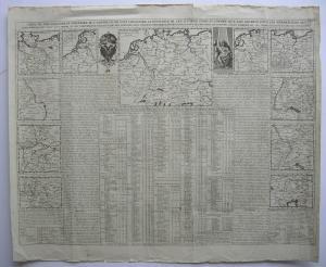 Gouvernement Militaire l'Empire Deutsches Reich Kupferstichkarte Chatelain 1720