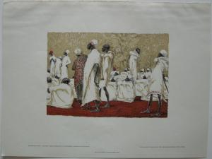 Meinhard Jacoby (1873-1957) Schauri Ostafrika Orig Farblithografie 1932