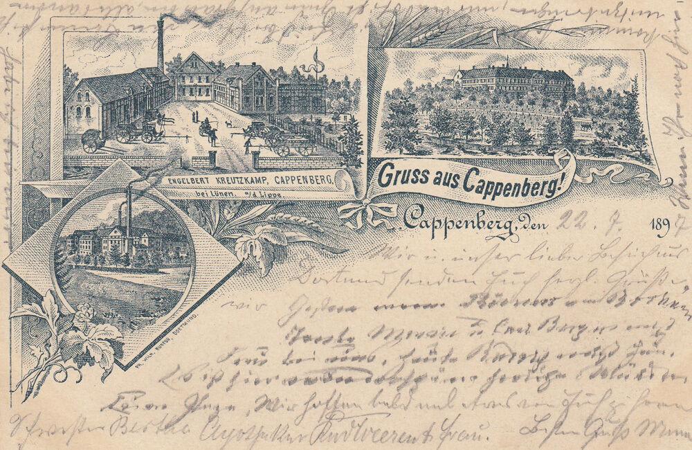 Ak Cappenberg Selm Unna Fabrik Kreutzkamp Schloss gel 1897 0