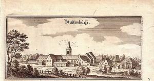 Raitenbuch Gesamtansicht Weißenburg Gunzenhausen Orig Kupferstich Merian 1644