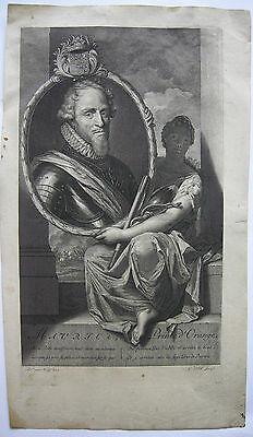 Moritz von Oranien Kupferstich von G Valck nach Adr. vander Werff 1700 Holland 0