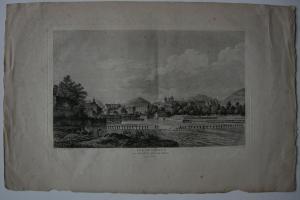 Genf Vue de Geneve Schweiz Rhone-Fall Orig Kupferstich Née 1790