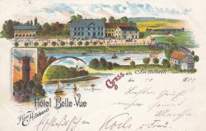 Ak Bommern Ruhr Ennepe-Ruhr-Kreis Hotel Belle-Vue Litho gel 1901