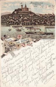 AK Blankenese Hamburg vom Süllberg Litho gel 1899