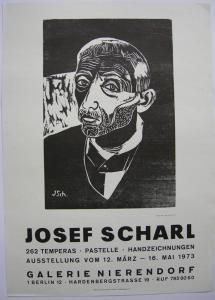 Josef Scharl Galerie Nierendorf Plakat Orig Holzschnitt 1973 Expressionismus