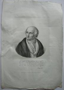 Friedrich Gottl Klopstock (1724-1803) Schriftsteller Orig Lithografie 1827